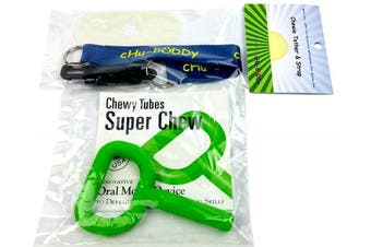 chubuddy Chewie Tether and Strap, holder for chewie, WITH Super Chew Green tm INCLUDED