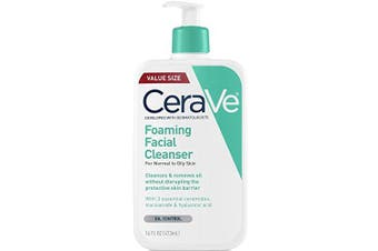 (470ml) - CeraVe Foaming Facial Cleanser | 470ml | Daily Face Wash for Oily Skin | Fragrance Free
