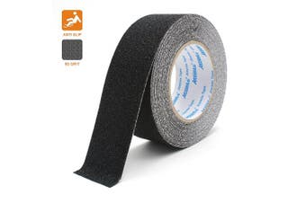 (5cm, Black) - Anti Slip Adhesive Tape, Atemto Non Skid Abrasive Safety Tape 2inch 10m Traction Heavy Duty Industry Grade Anti-Slip Anti-Skid Tape Grit Tape for Stairs Porch Bathroom Kids The Old (5cm, Black)