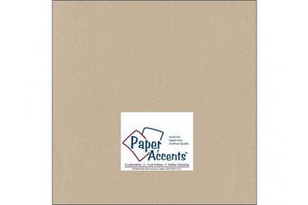 Accent Design Paper Accents ADP1212-25.304 ADPaperRecycled12x12Kraft Cdstk Recycled 12x12 80# Kraft