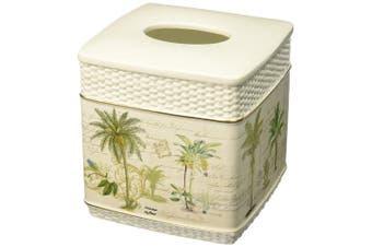 Avanti Linens 13668EIVR Colony Palm Tissue Cover, Medium, Ivory