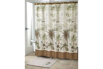 Avanti Linens 13668HIVR Colony Palm Shower Curtain, Medium, Ivory