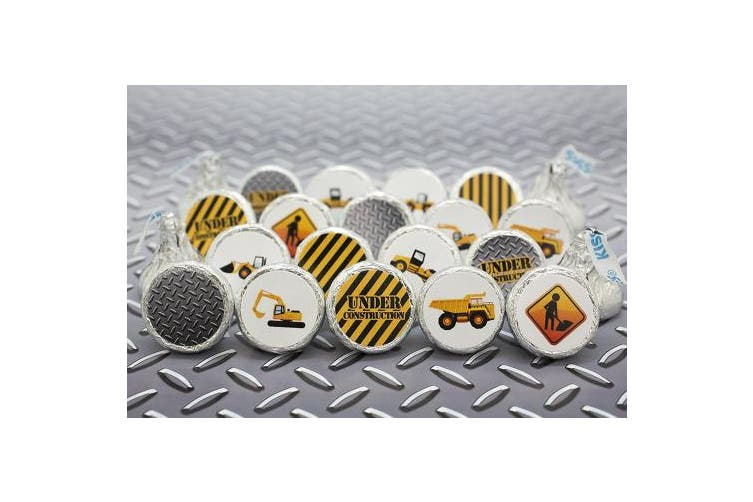 Construction Party Favour Stickers 216ct | Kids Birthday Candy Labels