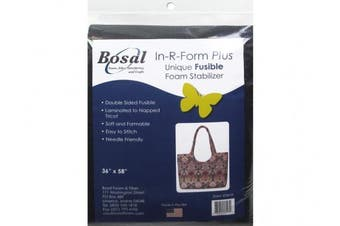 Bosal BSL493B-90cm R Form Foam Stabiliser Plus Fusible Double Sided Black, 90cm by 150cm