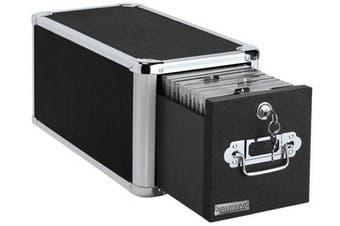 (Single Drawer) - Vaultz Locking Single Drawer CD File Cabinet, 15 x 19cm x 20cm , Black (VZ01173)