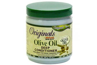 (1) - Africas Best Conditioner Originals Olive Oil Deep 15 Ounce Jar (443ml)