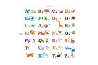 (Large) - Decowall DA-1308L Alphabet ABC and Animals Kids Wall Decals Wall Stickers Peel and Stick Removable Wall Stickers for Kids Nursery Bedroom Living Room (Large)