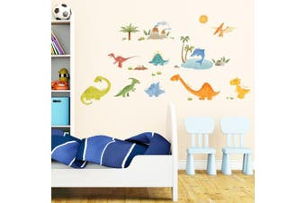 (Dinosaurs) - Decowall,DW-1505,Dinosaurs peel & stick Nursery wall decals stickers