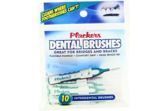 Plackers Dental Brushes, Interdental Brushes 10 ea