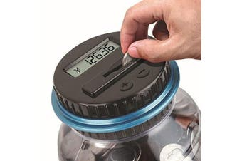 Electronic Digital Coin Counter Piggy Bank Counting Saving Jar LCD Change Sorter by New