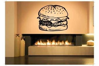 Wall Vinyl Sticker Decals Mural Room Design Pattern Art Hamburger Food Kitchen bo1395