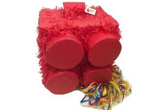 Red Brick Pinata Pull Strings Style