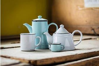 (Green) - Abbott Collection Enamel Look Stoneware Espresso Cup, Green