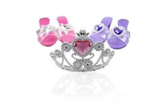 Little Princess Dress Up Tiara with Step In Shoes Fashion Beauty Set for Girls