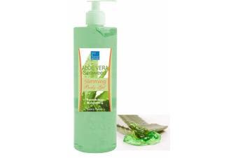Slimming Aloe Vera & 3 Seaweed Gel 500 ml Cellulite Gel for Tummy, Hips, Arms, Thighs