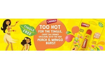 Carmex Lip Balm Peach & Mango Burst Tube 10g