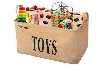 "(20"" Toys) - Gimars 50cm Jute Storage Basket Bin Chest Organiser - Perfect for Organising Toy Storage, Baby Toys, Kids Toys, Dog Toys, Baby Clothing, Children Books, Gift Baskets"
