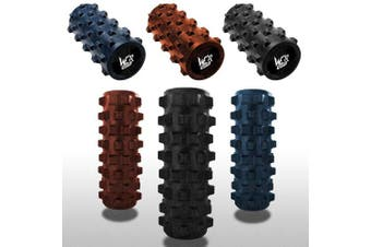 (Blue) - We R Sports Grid Foam Massage Roller Sports Injury Gym Yoga Pilates Therapy Exercise Physio
