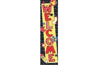 (Color Pop Welcome) - Eureka Mickey Colour Pop! Vertical Classroom Banners, Welcome, Measures 110cm x 30cm