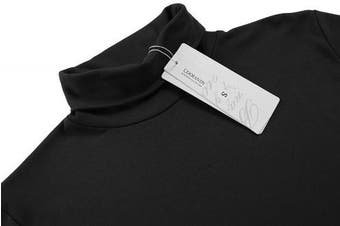 (Small, Black) - Coofandy Men's Turtleneck Roll Neck Polo Necks Slim Fit Pullover Sweaters