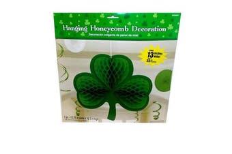 Three Leaf Clover Hanging Honeycomb Decoration