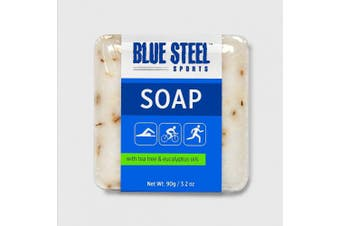 Blue Steel Sports SOAP with Tea Tree and Eucalyptus Oils - DUO Pack ( 2 medium soaps per pack)