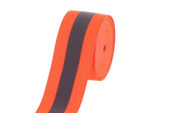COTOWIN Orange Reflective Elastic,3.8cm Wide 5 Yards