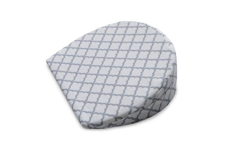Boppy Pregnancy Wedge with Jersey Slipcover, Scalloped Trellis White