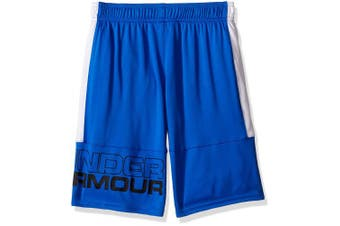 (Youth Small, Ultra Blue/White) - Under Armour Boys Instinct Shorts