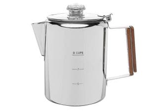 (9 CUP) - Coletti 9 CUP Stainless Steel Percolator Coffee Pot