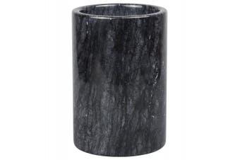 (Black) - Creative Home Marble Multi-Functional Tool Crock, Black