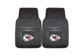 (Front) - FANMATS NFL Kansas City Chiefs Vinyl Heavy Duty Car Mat