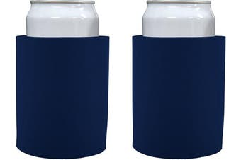 "(2, Navy Blue) - Blank Thick Foam ""Old School"" Style Can Cooler(s) (2, Navy Blue)"