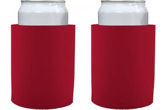 "(2, Red) - Blank Thick Foam ""Old School"" Style Can Cooler(s) (2, Red)"
