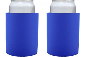 "(2, Royal Blue) - Blank Thick Foam ""Old School"" Style Can Cooler(s) (2, Royal Blue)"