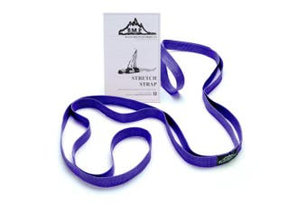 (Blue) - Black Mountain Products Stretch Strap with Instructional Guide