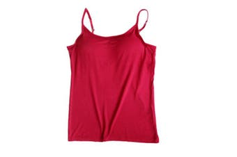 (X-Large, Wine Red) - BIFINI Women's Adjustable Padded Bra Camisole Top Sleeveless T-Shirt, Colours