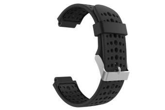 (Black & Black) - Garmin Forerunner 235 Watch Band, MoKo Soft Silicone Replacement Watch Band for Garmin Forerunner 235 / 220 / 230 / 620 / 630 / 735 Smart Watch - Black & Black