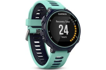 (Watch Only, Single, Midnight Blue & Frost Blue) - Garmin Forerunner 735XT - Midnight Blue & Frost Blue