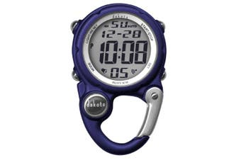 (Dark Blue) - Dakota Watch Company Digital Clip Mini Watch with Water Resistance