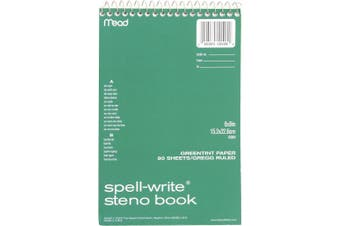 (GREEN) - Mead 80CT Steno Notebook (43080)