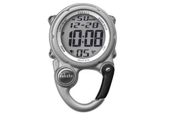 Dakota Watch Company Digital Clip Mini Watch with Water Resistant, Silver
