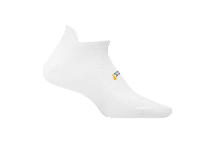 (Small, White) - Feetures! High Performance Ultra Light Cushion No Show Tab Socks