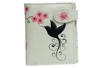 (Hummingbird Beige) - Shagwear Young Ladies Wallet, Small Purse: Various colours and designs: (Hummingbird Beige)