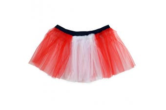 (Red and White) - Runners Tutu | Lightweight | One Size Fits Most | Colourful Running Skirts