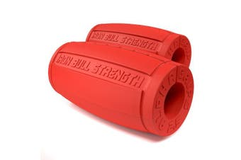 (Red) - Alpha Grips 2.5 - Extreme Arm Blaster - Best Dumbbell and Barbell Thick Bar Adapter