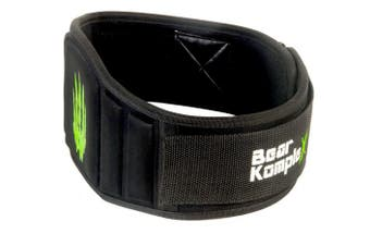 (X-Large 100cm  - 110cm  waist, Black) - Bear KompleX 15cm Strength Weightlifting Belt for Men & Women, Durable, Easily Adjustable, Low Profile with Super Firm Back for Support During Powerlifting, Cross Training, Squats, Weights, and More.