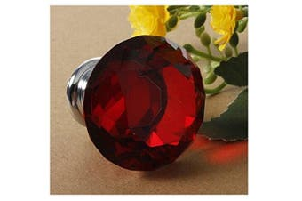 (40mm Red) - Revesun 4pcs Red 40mm Crystal Glass Cabinet Knobs Drawer Pulls Kitchen Door Pulls and Knobs Chest Bin Handle Wardrobe Hardware,Used for Cabinet, Drawer, Chest, Bin, Dresser, Cupboard