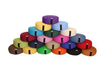 (36cm  Round, AQUA) - Zafu Yoga Meditation Cushion Cotton or Hemp, Organic Buckwheat Fill - 2 SIZES, VARIETY OF colours - Made In USA, by Bean Products