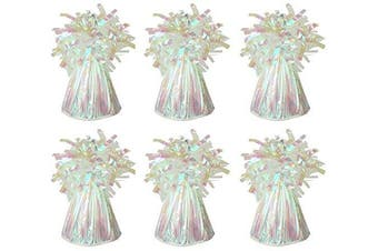 MEGA VALUE 6 x Iridescent Foil Helium Balloon Weights Ideal Party Decoration Accessory by My Planet